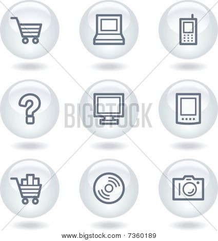 Electronics web icons set