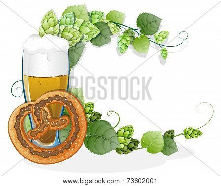 Pretzel And A Glass Of Beer
