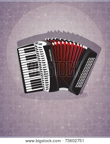 Accordion With Red Bellows