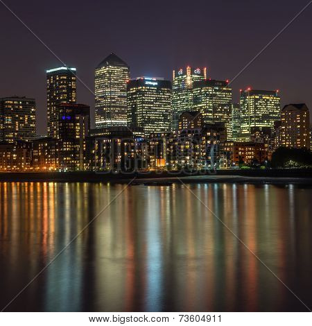Canary Wharf in the coty of London