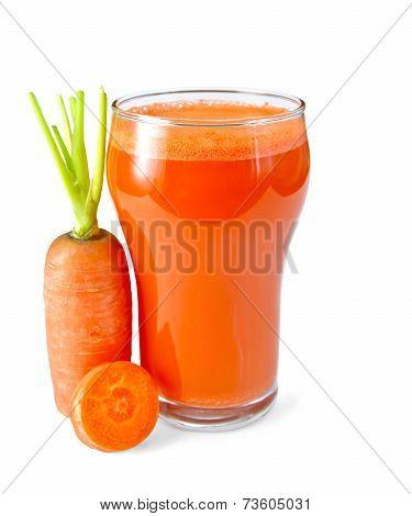 Juice carrot orange