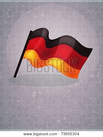German Flag On Abstract Background