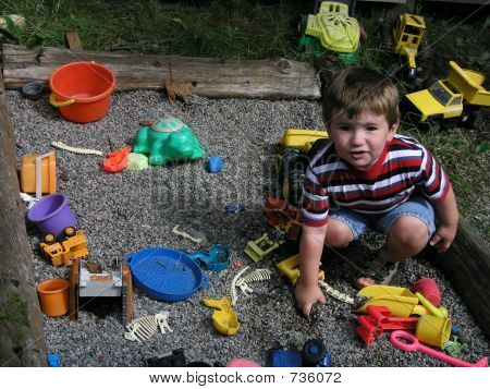 Boy in a Sandbox