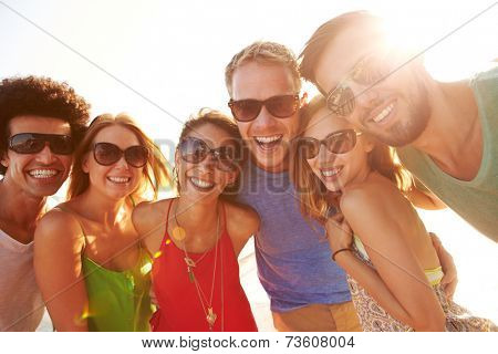 Group Of Young Friends On Summer Holiday Together