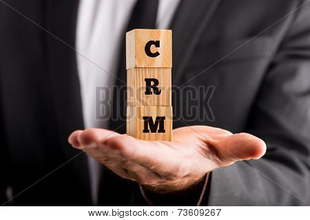 Crm Acronym On Small Wooden Blocks