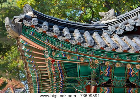 Fragment Of Traditional Korean Roof