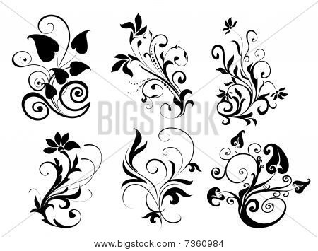 Flower And Leaves Pattern