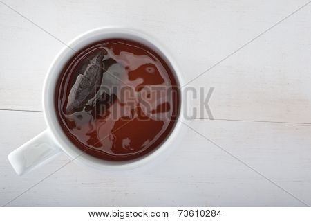 Tea Cup And Tea Bag