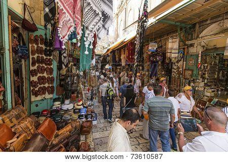 Market Of The Old City Jerusalem