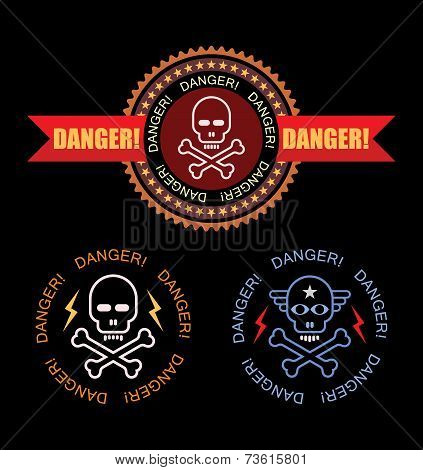 Danger Vector Label