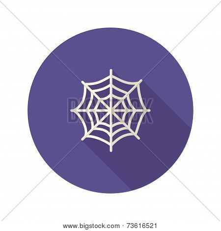 Halloween Spiderweb Flat Icon