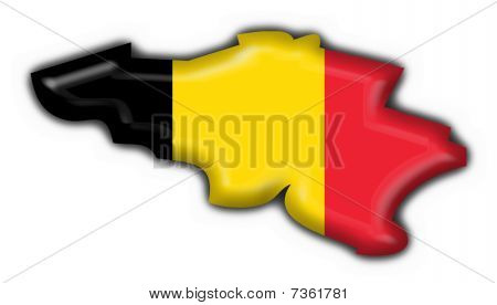 belgium button flag map shape