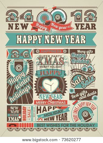 News Newspaper Happy New Year And Merry Christmas.eps