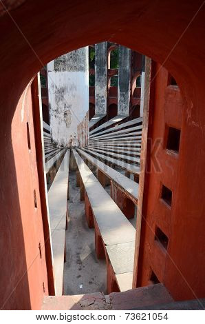 Inside Jantar Mantar Complex- Medieval Observatory In Delhi, India,unesco Heritage Site