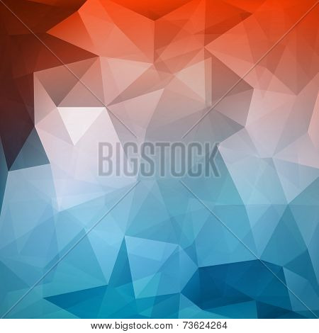 Abstract Geometric Polygonal Mesh Wire Vector Background
