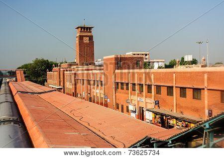 Jodhpur, Rajasthan, India Train Or Rail Station In Early Morning