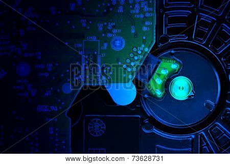 IDE hard disk drive close-up