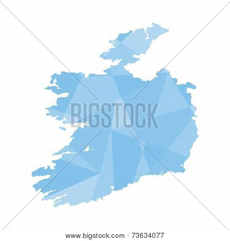 Illustration Of A Colourfully Filled Outline Of Ireland