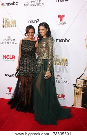 LOS ANGELES - OCT 10:  Judy Reyes, Edy Ganem at the 2014 NCLR ALMA Awards Arrivals at Civic Auditorium on October 10, 2014 in Pasadena, CA