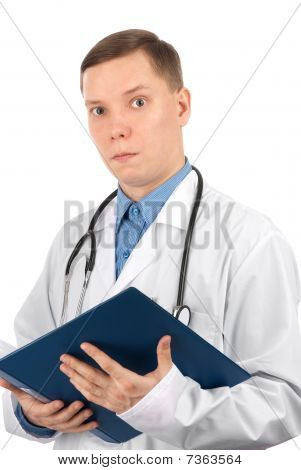 Surprised Young Male Doctor