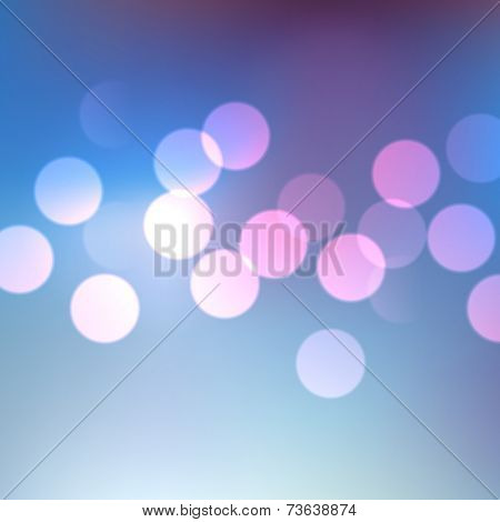 abstract blue shiny bokeh lights