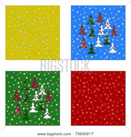 Christmas tileable backgrounds set