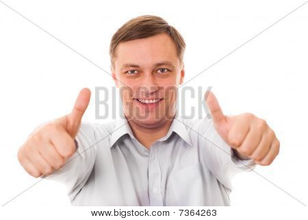 Portrait Of An Excited Mature Man