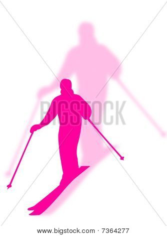Skier With Shadow