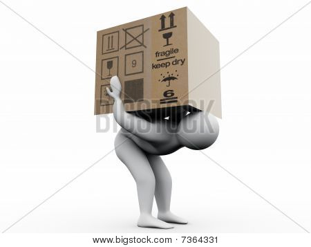 Man With Paperbox
