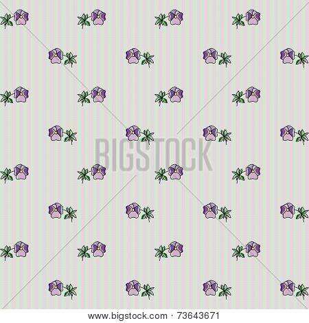 Floral Pattern Viola