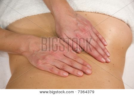massage at lumbar region