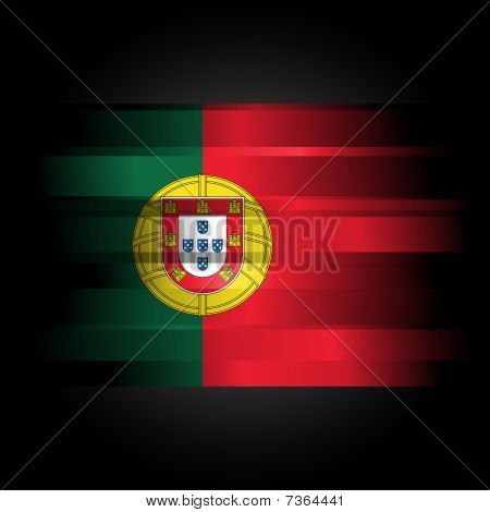 Abstract Flag Of Portugal On Black Background