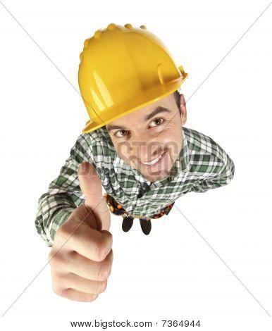 Funny Handyman Thumb Up