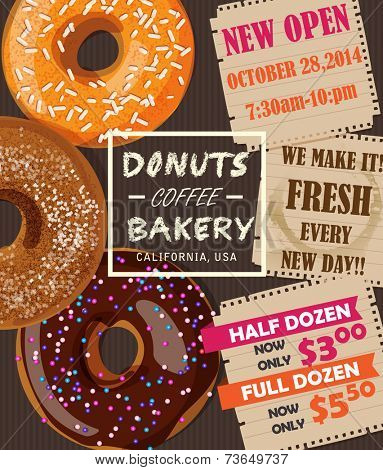 Donuts Coffee Bakery Advertising Banner
