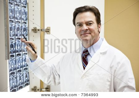 Friendly Doctor With Ct Scan