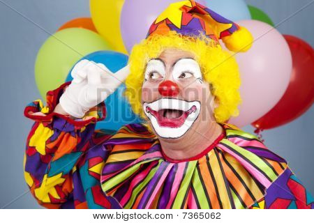 Clown With Bright Idea