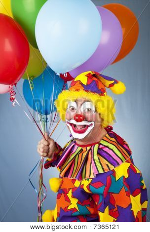 Happy Clown mit Luftballons