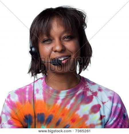 Telmarketer Answering A Call