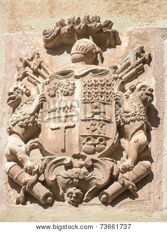 coat of arms in Maneru, Navarra - Spain