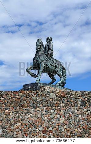 Equestrian Statue Of Empress Elizabeth Petrovna. Baltiysk, Russia