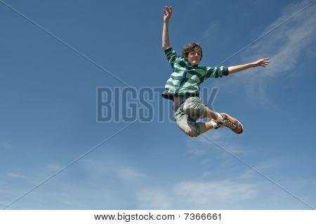 Teen Boy Jumping