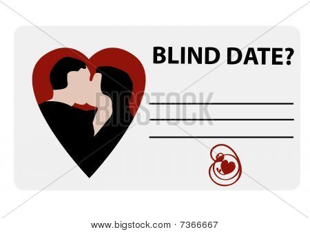 Illustration of a blind date card