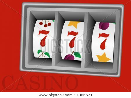 Illustration of a slot machine