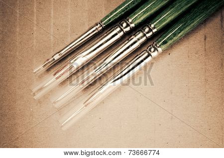 Paintbrushes Close Up