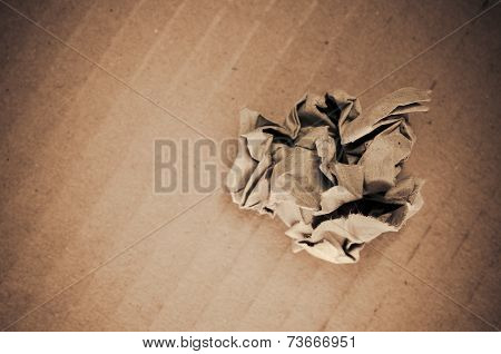 Balled Up Recycled Paper