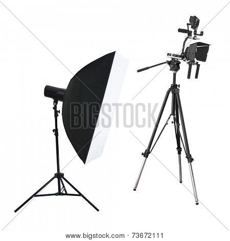 The image of a a tripod for video camera