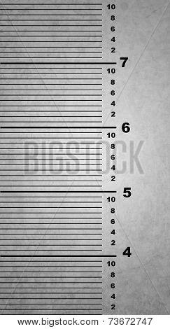Ruler On A Wall Of A Jail