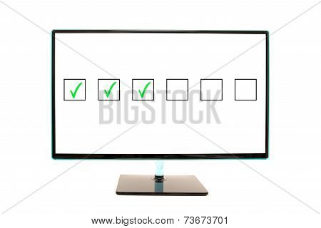 Flat Monitor Screen Flashing Check Boxes