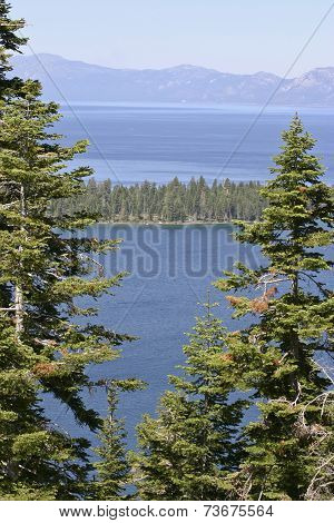 View Of Lake Tahoe And Mountains Beyond
