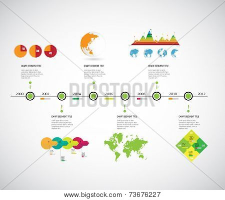 Timeline Infographic, vector design template.